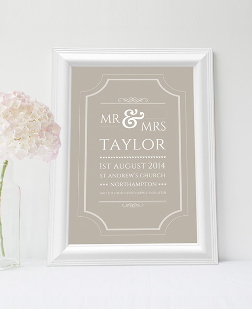 Typographic Wedding Print - The Little Shop Of Prints